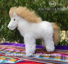 Stuffed Horse 100% baby alpaca, alpaca plush toy » www.peruvianfootprints.com Alpaca Toy, Suri Alpaca, Baby Alpaca, Alpaca Stuffed Animal, Handmade Soft Toys, Beautiful Horses, Pet Toys, Stuffed Horse, Plush