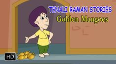 Tenali Raman Stories - Golden Mangoes - Short Stories for Children Short Moral Stories, English Short Stories, English Story, Kids Stories, Short Stories For Kids, Cartoon Kids, Folklore, Mythology