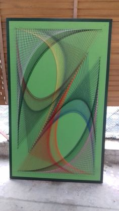 Diy Art Projects, Garden Projects, Parachute Cord Bracelets, String Wall Art, Thread Art, Pin Art, Abstract Wall Art, Fall Crafts, Ornaments