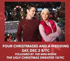 Its a Wonderful Movie - Your Guide to Family and Christmas Movies on TV: Four Christmases and a Wedding - a Lifetime Christmas Movie Premiere starring Arielle Kebbel & Corey Sevier!