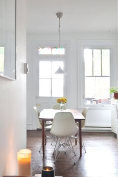 Gabrielles Bright And Charming Small Montreal Condo Dining AreaKitchen DiningDining TablesDining RoomsKitchen