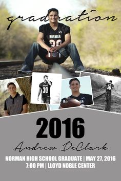 Graduation Announcement {Senior Photo Collage} #Boy | tess.creations.design@gmail.com