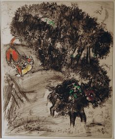 Marc Chagall The Lion go hunting and the Donkey 1930