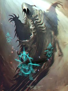 Incantations by ramsesmelendeze on DeviantArt Dark Fantasy Art, Fantasy Rpg, Fantasy Monster, Monster Art, Fantasy Creatures, Mythical Creatures, Science Fiction, Ramses, Writing Fantasy