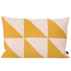 Twin Triangle cushion, curry, by Ferm Living.