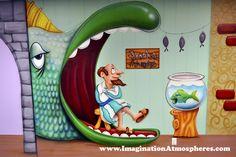 cartoon bible story murals