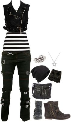 """Okay, usually I don't go THIS dark, but I'm drawn to this. . .  """"Untitled"""" by little-miss-rocker-chick on Polyvore."""