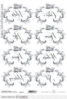Papier do transferu ITD na Decoupage metodą transferu - Zszywka. Decoupage, Arabic Calligraphy, Scrapbooking, Paper, Vintage, A4, Miniatures, Printables, Lyrics