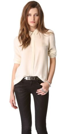 Beautiful staple. Ivory button down.