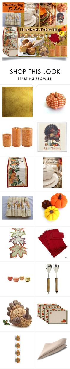 """""""Thanksgiving Table Decor"""" by jeneric2015 ❤ liked on Polyvore featuring interior, interiors, interior design, home, home decor, interior decorating, Burke Decor, jcp, Pier 1 Imports and thanksgivingtable"""
