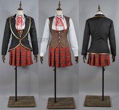 RWBY Ruby/Weiss/Blake/Yang School Uniforms Cosplay Costume
