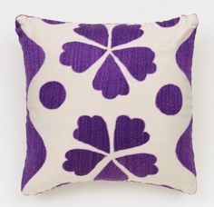 Purple Fauve Suzani Pillow at the Madeline Weinrib NYC Sample Sale 2012 - October 24th through 28th, at 881 Broadway, Lower Level.