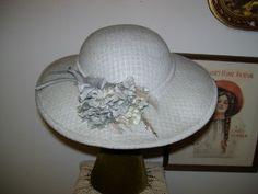 1980s Vintage Grey Felt Large Brim Hat by LavenderPathAntiques, $24.00