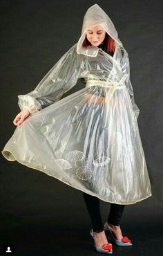 Clear Raincoat, Pvc Raincoat, Plastic Raincoat, Plastic Mac, Rain Suit, Pvc Vinyl, Rain Wear, Girls In Love, Girls Wear