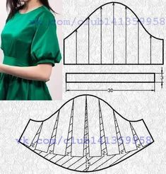 Sewing Paterns, Sewing Patterns For Kids, Clothing Patterns, Sewing Clothes, Diy Clothes, Dress Sewing, Costura Fashion, Sewing Collars, Sewing Sleeves