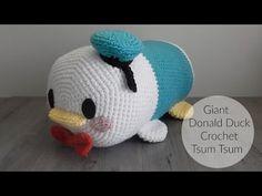 DIY Giant Donald Duck Tsum Tsum Amigurumi Crochet Tutorial - YouTube