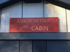 Cabin/Lakehouse Sign, Personalized Wood Sign, Engraved Wooden Sign, Custom Wood Sign for Wedding/Housewarming/Birthday Gift