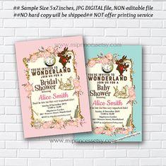Alice in wonderland invitation  Bridal Shower OR by miprincess