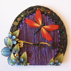 Fairy Door Pixie Portal Kids Room Decor with a by Claybykim