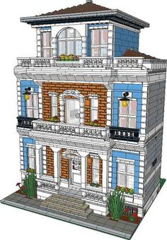 Lego Custom Modular Mansion Instructions | eBay