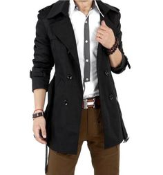 Men Double Breasted Classic Trench Coat in Black or Beige. This Men Rain Coat is one of the most popular trench coat style. Casual or Business Style Trench. Buy Direct and get $20 off instantly! Mater
