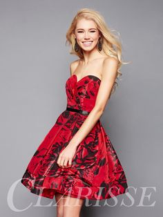 CLARISSE - Fall 2017- Floral Clarisse Homecoming Dress 3313