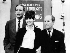 Rare Audrey Hepburn — Audrey Hepburn and Mel Ferrer (left), 1965.