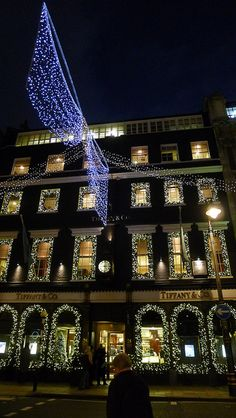 Tiffany & Co during the holiday season
