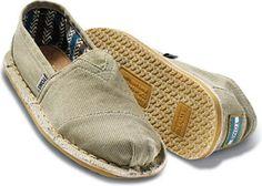 Tom's Shoes Natural Stitch Out Alpargatas