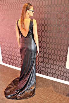 Elegant leather dress by Amourie Becker. Elegant, Formal, Leather, Fashion Design, Dresses, Classy, Preppy, Vestidos, Dress