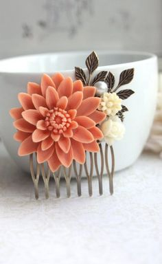 hair clip #bride I like the idea, just different colors