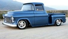 Blue chevy hot rod