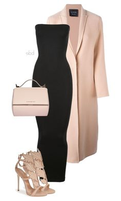 Untitled #266 by deborahkallu on Polyvore featuring polyvore fashion style Wolford Lanvin Giuseppe Zanotti Givenchy