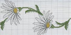 graficos ponto cruz flores - Pesquisa Google