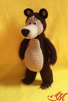 вязаный медведь из мультика маша и медведь схема мк
