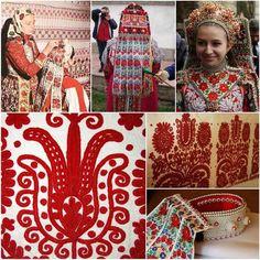 Kalotaszegi mintakincsünk Hungarian Embroidery, Folk Embroidery, Embroidery Stitches, Embroidery Patterns, Bohemian Fabric, Montessori Art, Folk Clothing, Folk Dance, Chain Stitch