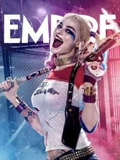 Empire Cover of Margot Robbie as Harley Quinn in Suicide Squad