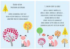 Kuura-ketun syksyinen aistipolku Kindergarten, Chart, Education, Words, School, Day, Autumn, Fall, Kindergartens