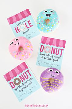 Donut Valentine's Labels Free Download Printable   Wonder ...