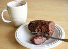 Γρήγορο κέικ μικροκυμάτων Single Serve Cake, Single Serve Desserts, Just Desserts, Microwave Cake Mix, Microwave Chocolate Cakes, Mug Recipes, Sweets Recipes, Cake Recipes, Diet Recipes