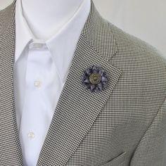 Charcoal Lapel Flower for Men Mens Flower Mens Lapel Flower Flower Boutonniere Men's Lapel Flowers Dark Gray Flower Boutonnieres