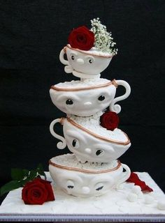 Cake Decorating Books Nz : Tea Cup Cakes on Pinterest Teacup Cake, Tea Party Cakes and Tea Cups