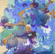 """Canadian Artist Claire Desjardins - Acrylic 2014 Painting """"Equivocal"""""""