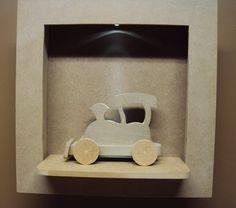 Quadro com led com trem decoração quarto bebe enfeite maternidade Luartes Decoração.Nicho bebe,quadro nicho, nicho