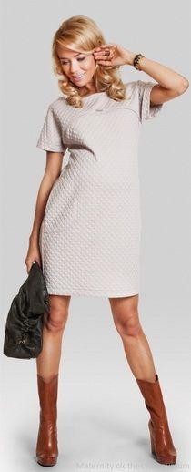 Wonder beige Maternity dress