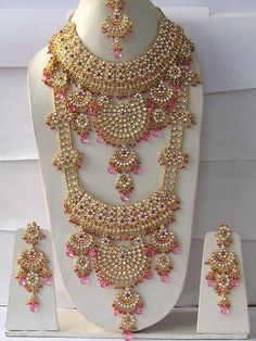 Indian Wedding Jewelry.  I know they wear more than just this.  Wonder what the jewels alone cost??  More than a small country?