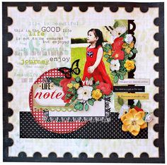 echo park for the record | My Scrapbook Nook April Kit- Echo Park For the Record patterned papers ...