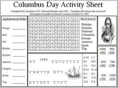 202 best Activities for Columbus Day images on Pinterest in 2018 ...