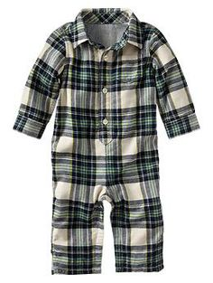 Lined plaid one-piece @Rachel Holland  can I buy this for Little Man?