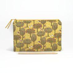 Zipper clutch, Woodland animals, Zipper pouch, Zipper travel pouch, Clutch purse, Large pencil case, Clutch bag, Cute pencil case by NoLongerBlue on Etsy